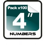 "4"" Race Numbers - 100 pack"